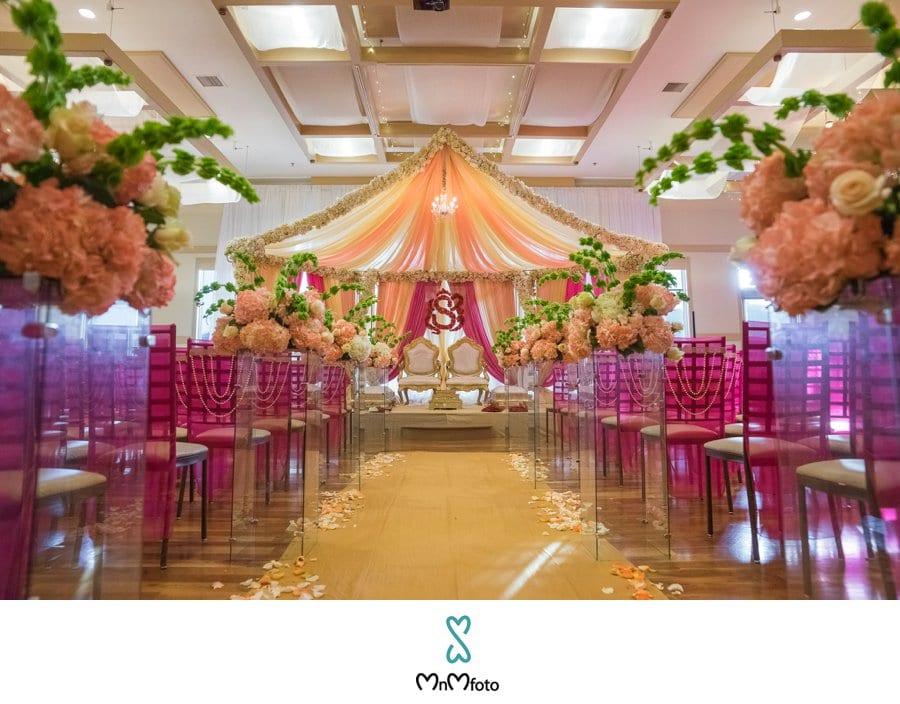 Wedding Venue Fushia Decor Indian At Noah
