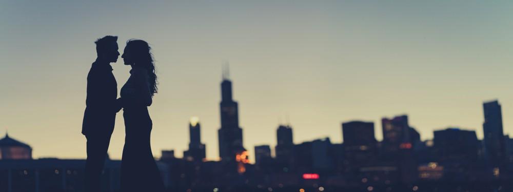 Chicago Night Shoot Adler Planetarium – Indian Wedding
